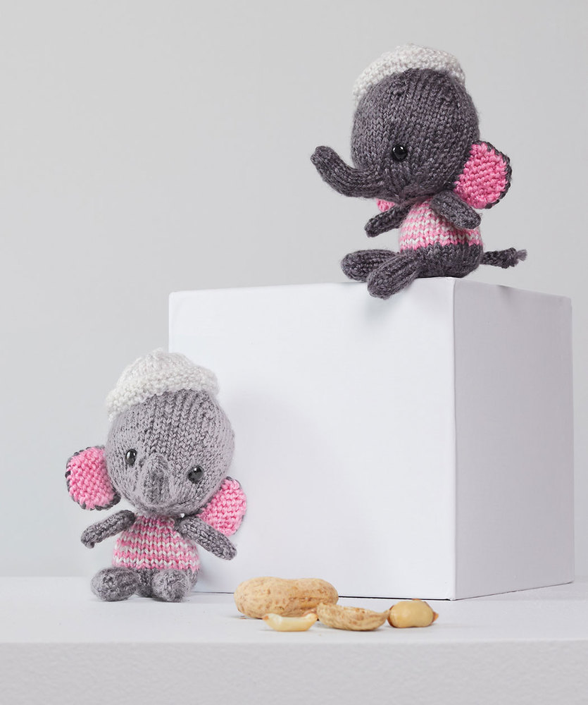 Free Knitting Patterns for Little Amigurumi Elephants