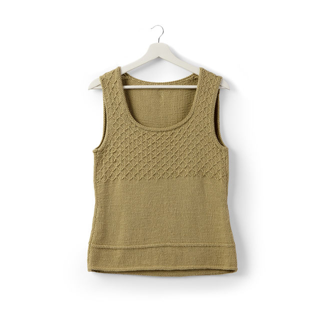 Free Knitting Pattern for an Easy Women's Tank Top