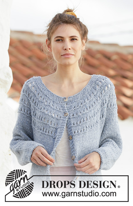 Free Knitting Pattern for a April Showers Jacket