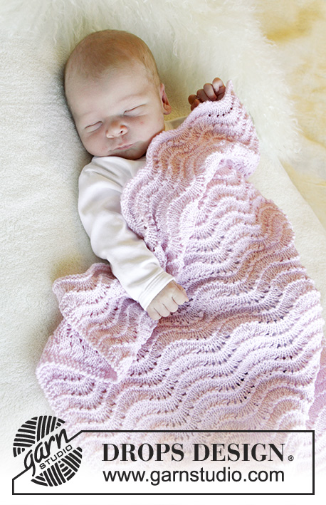 Free Knitting Pattern for a Wave Baby Blanket