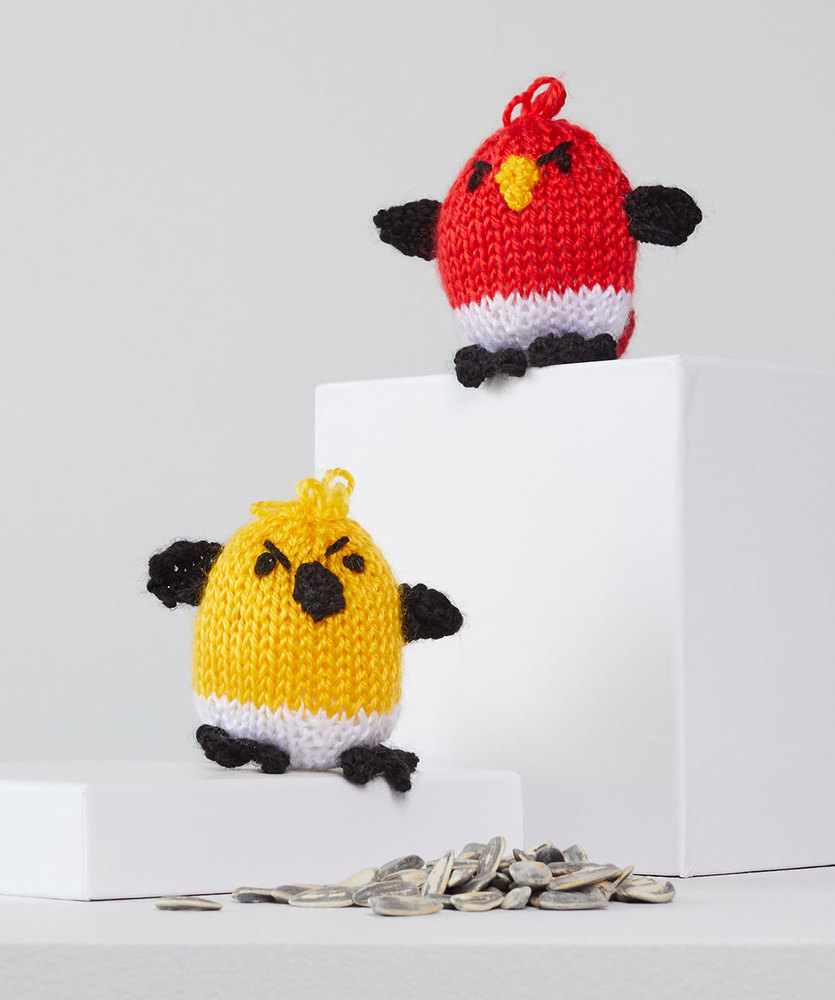 Free Knitting Pattern for George and Hubert Knit Bird