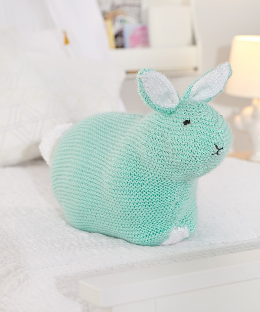 Free Knitting Pattern for a Simple Bunny Toy