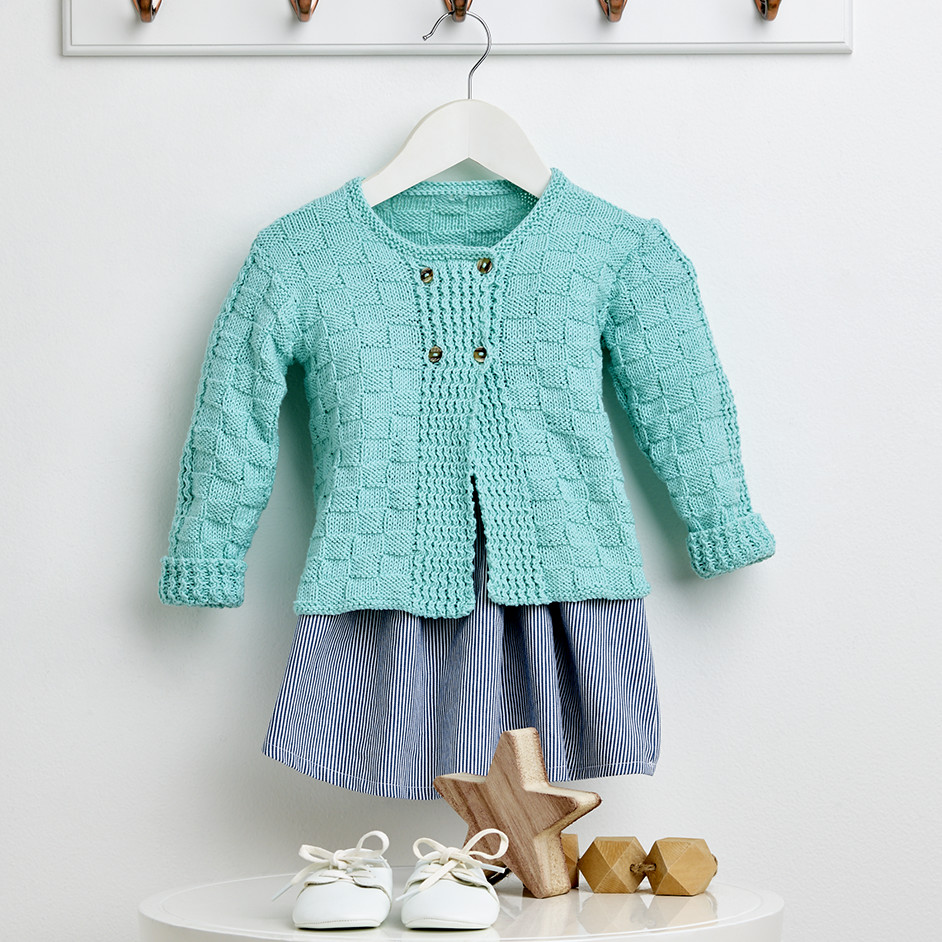 Free Knitting Pattern for a Baby Cardigan in 4 Ply