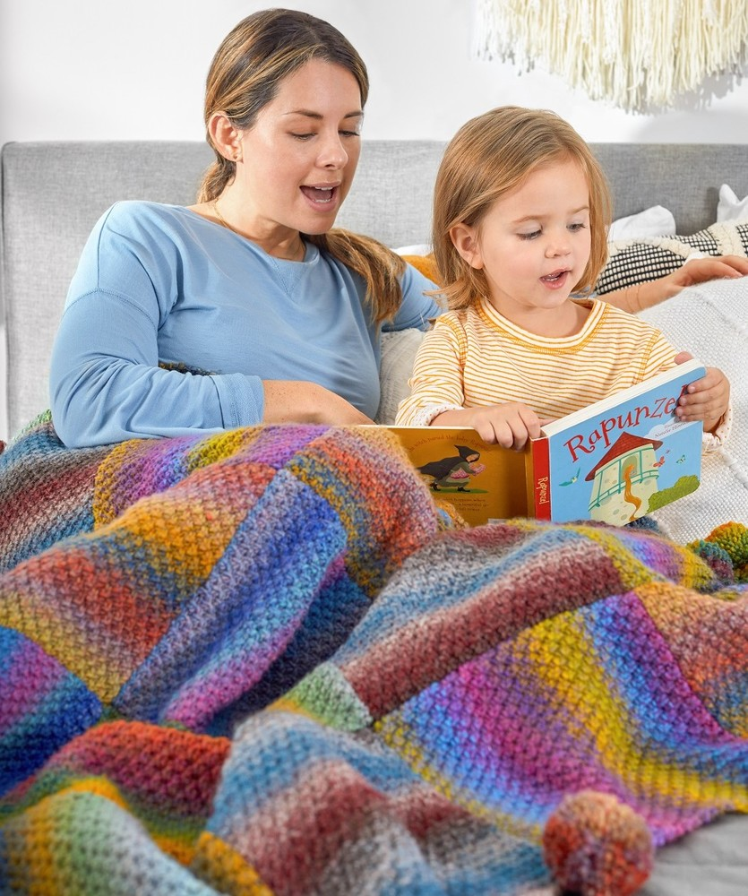 Free Knitting Pattern for a Great Squares Knit Blanket