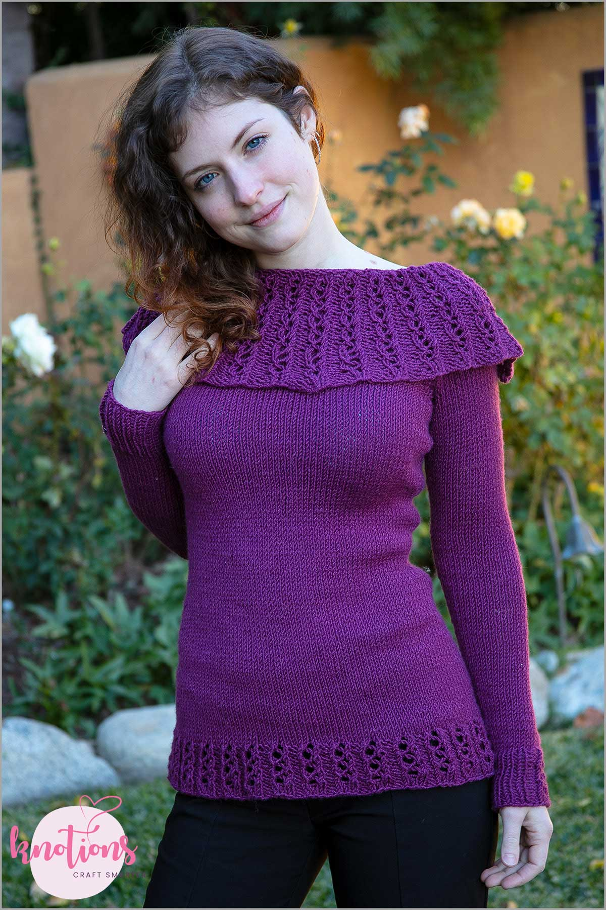 655a1eaca Free Knitting Pattern for a Ladies Pullover Louise