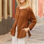 Free Knitting Pattern for an Autumn Spice Cardigan