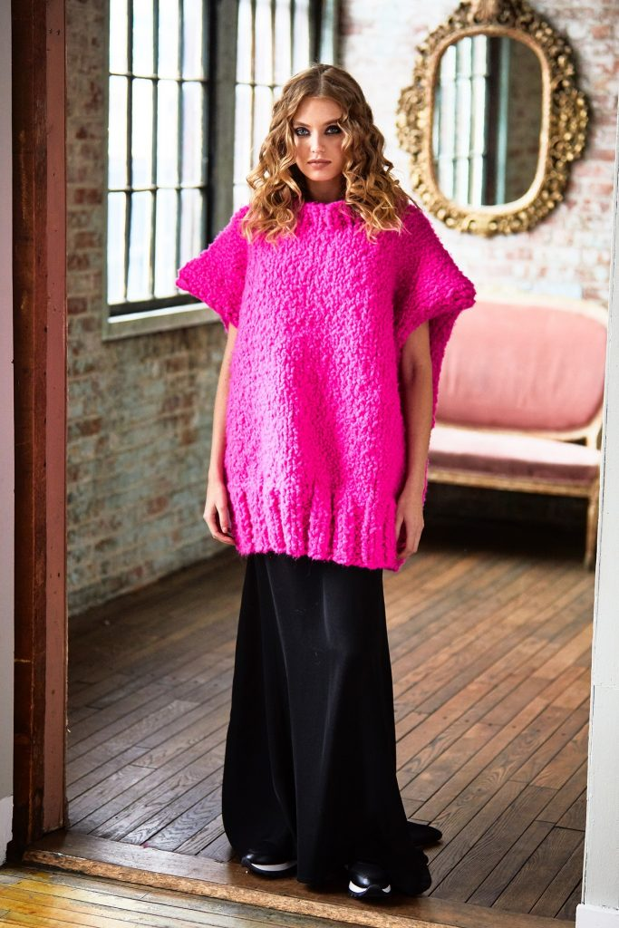 Free Knitting Pattern for an Oversized Statement Tunic