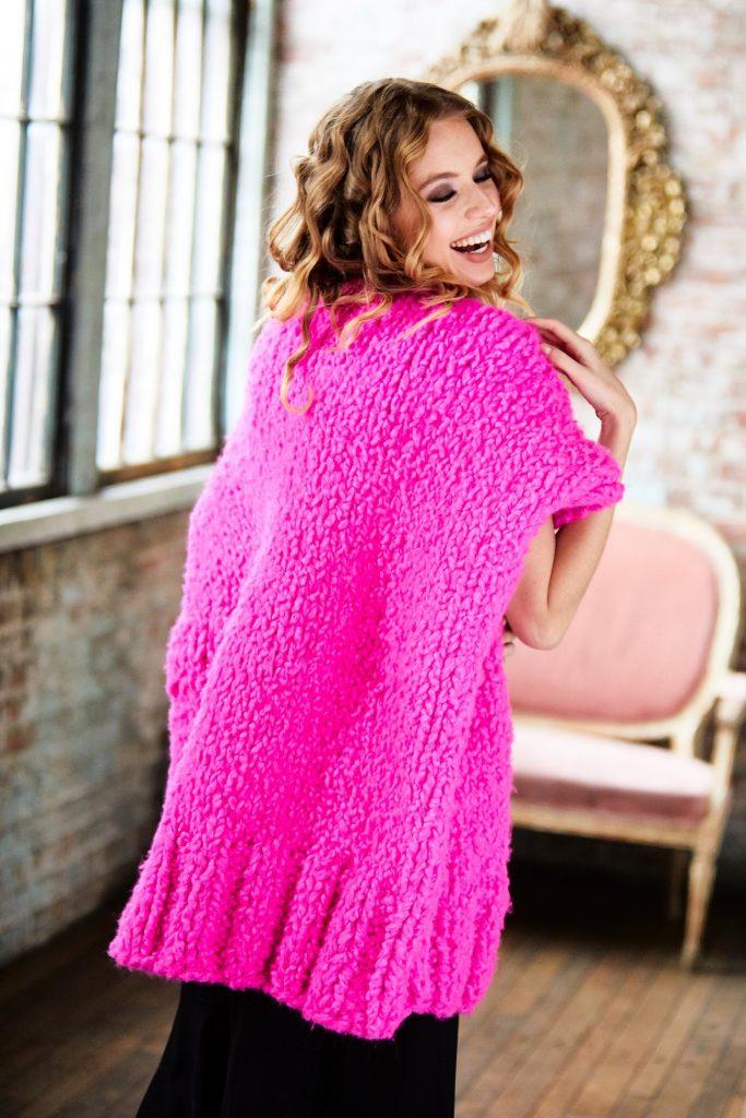 Free Knitting Pattern for an Oversized Statement Tunic