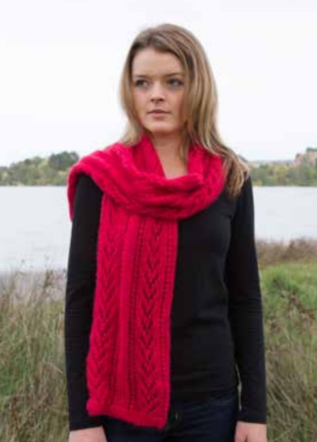 Free Lace Knitting Patterns for Scarves in Alpaca