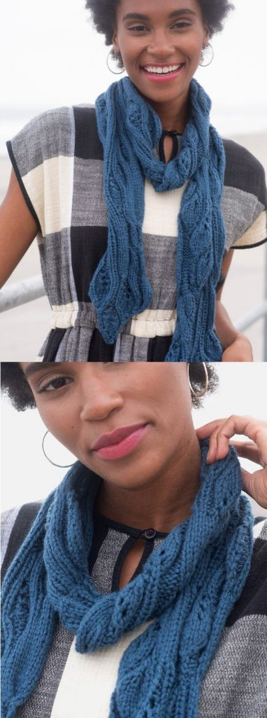 Free Lace Knitting Patterns for Scarves with Simple Eyelets