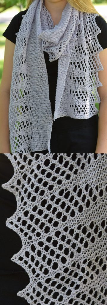 Free Lace Knitting Patterns for Scarves with a Lace Edge