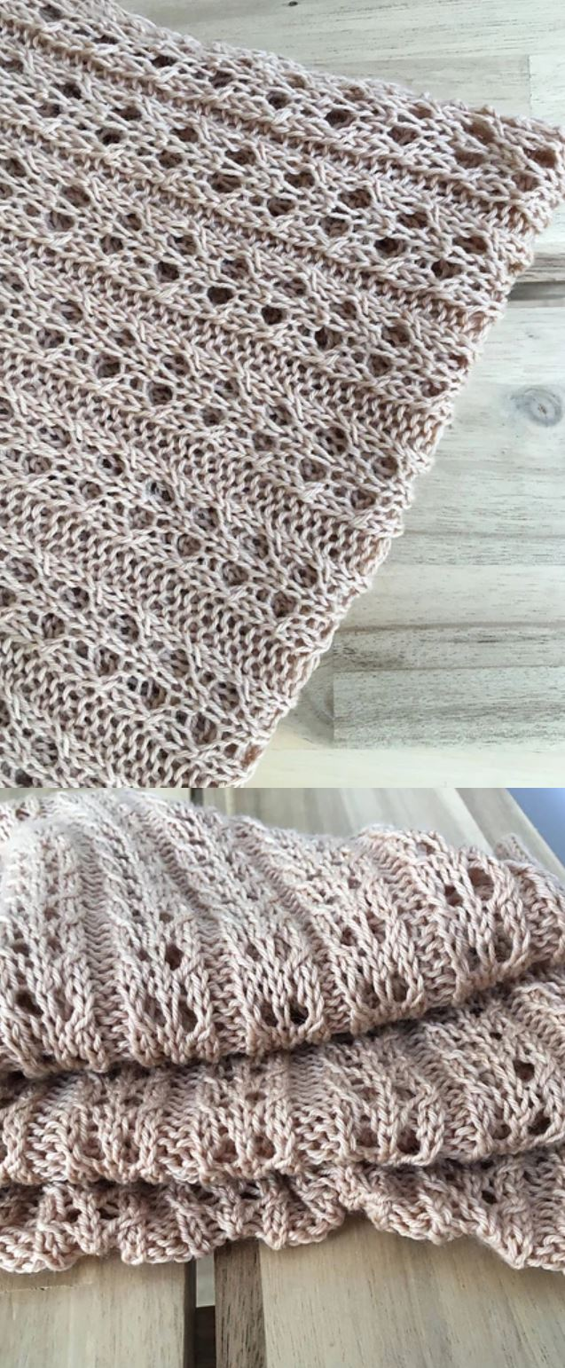 Free Knitting Pattern For A Light And Easy Summer Scarf With Lace