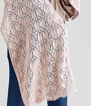Rose leaf lace stitch knitting pattern