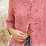 Free Knitting Pattern for a Lace stitch Ladies Raglan Cardigan