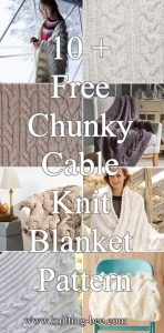 Free Chunky Cable Knit Blanket Pattern