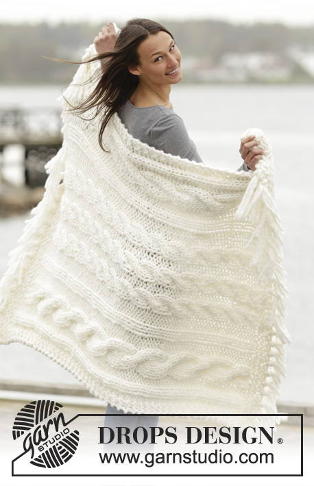 Free Chunky Cable Knit Blanket Pattern with Fringing