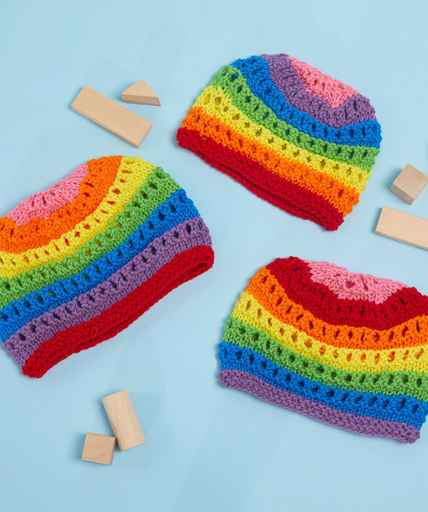 Free Knit Pattern for a Color for Everyone Knit Hats