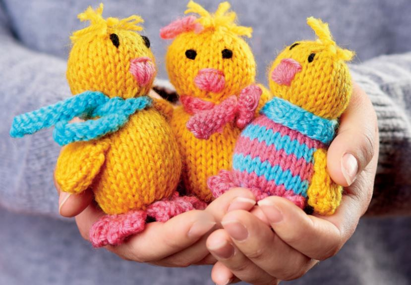 Free Knitting Pattern for Easter Chicks