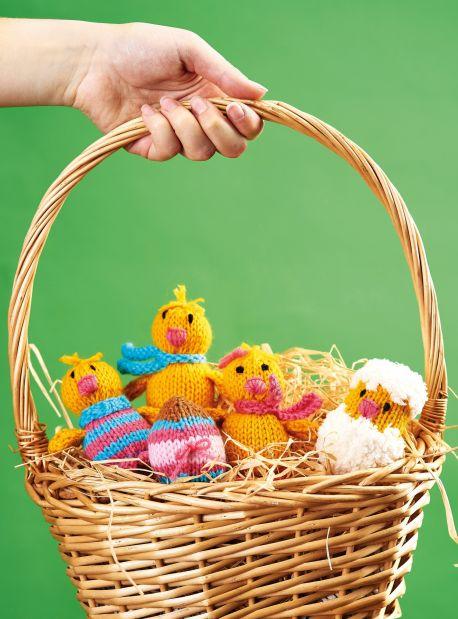 Free Knitting Pattern for Easter Chicks