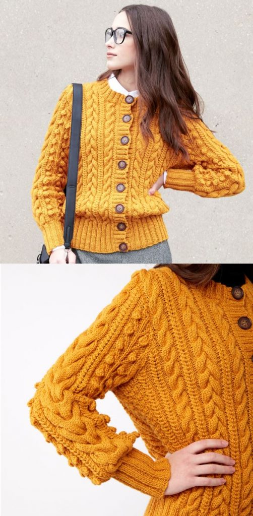 Free Knitting Pattern for Patons Dovercourt Cardigan