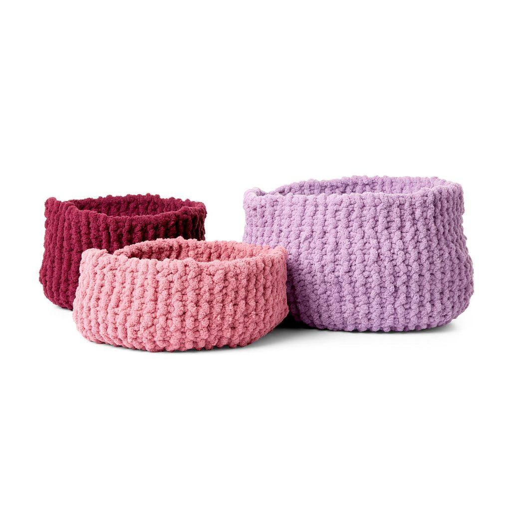 Free Knitting Pattern for Small Garter Stitch Baskets
