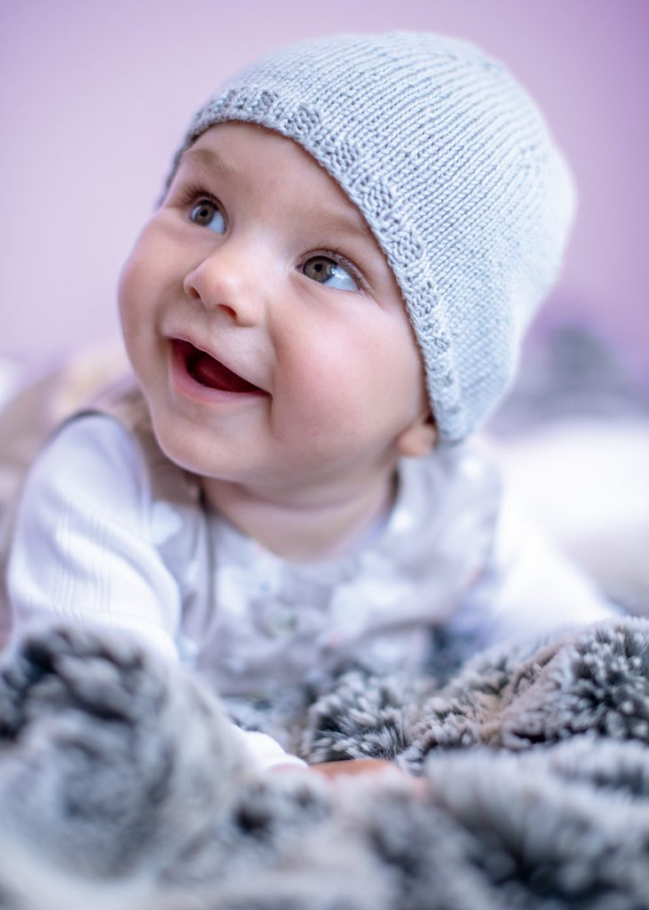 Free Knitting Pattern for a Beginner Baby Hat