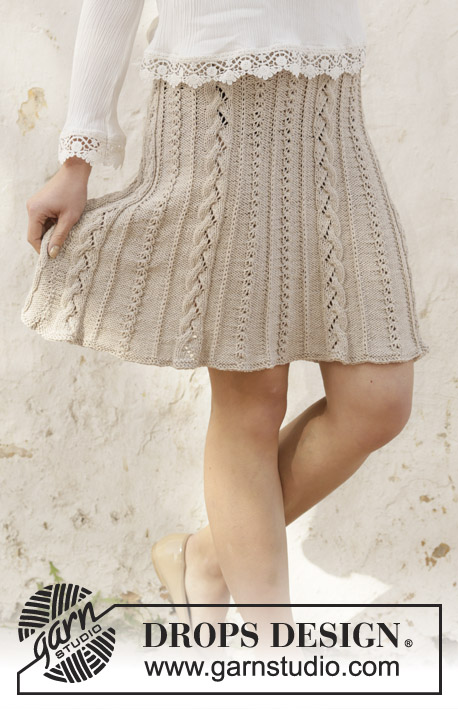 Free Knitting Pattern for a Cable Waterfall Skirt