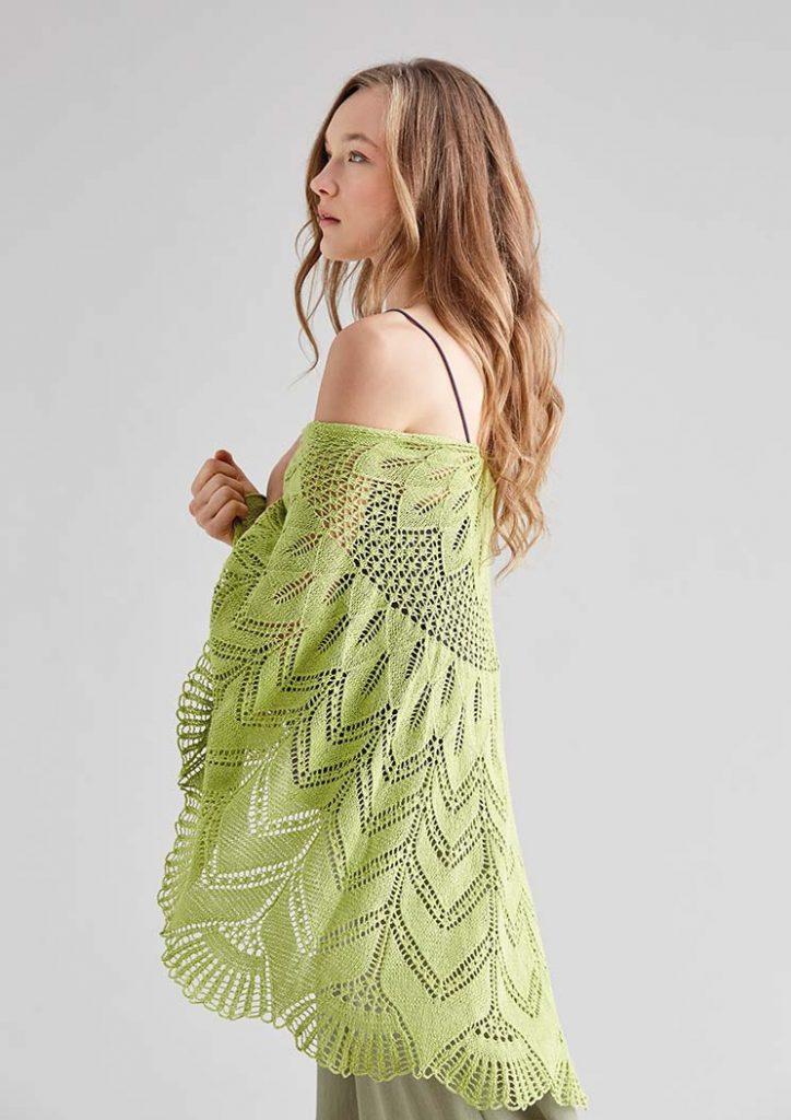 Free Knitting Pattern for a Chiffon Lace Shawl 1