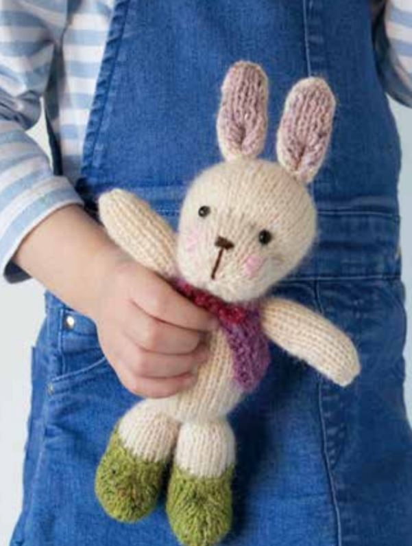 Free Knitting Pattern for a Cute Easter Bunny
