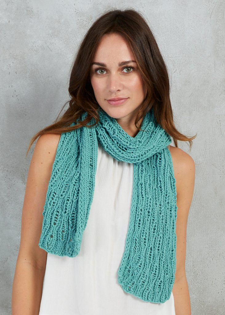 Free Knitting Pattern for a Drop Stitch Scarf
