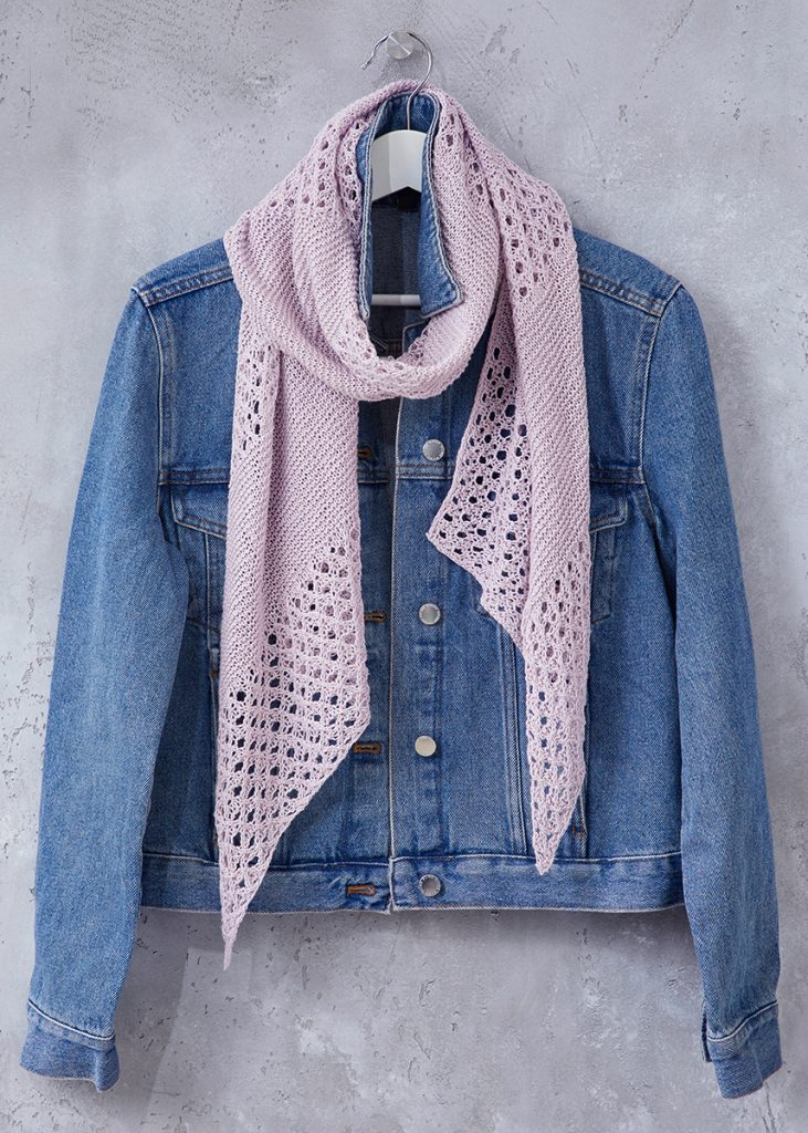 Free Knitting Pattern for a Light and Airy Summer Lace Scarf