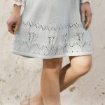 Free Knitting Pattern for a Spring Tulip Lace Skirt