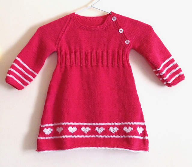 Free Knitting Pattern for a Springtime Toddler Dress