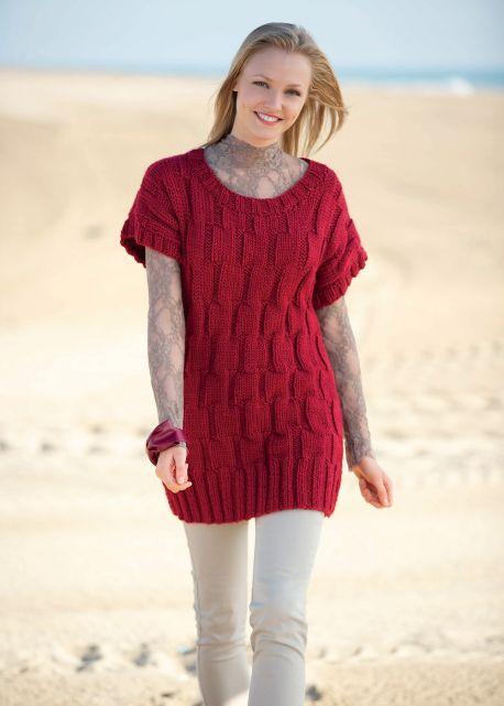 Free Knitting Pattern for a Stylish Jumper Dress