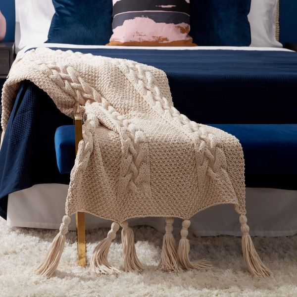 Free Knitting Pattern for a Tuck Stitch Blanket