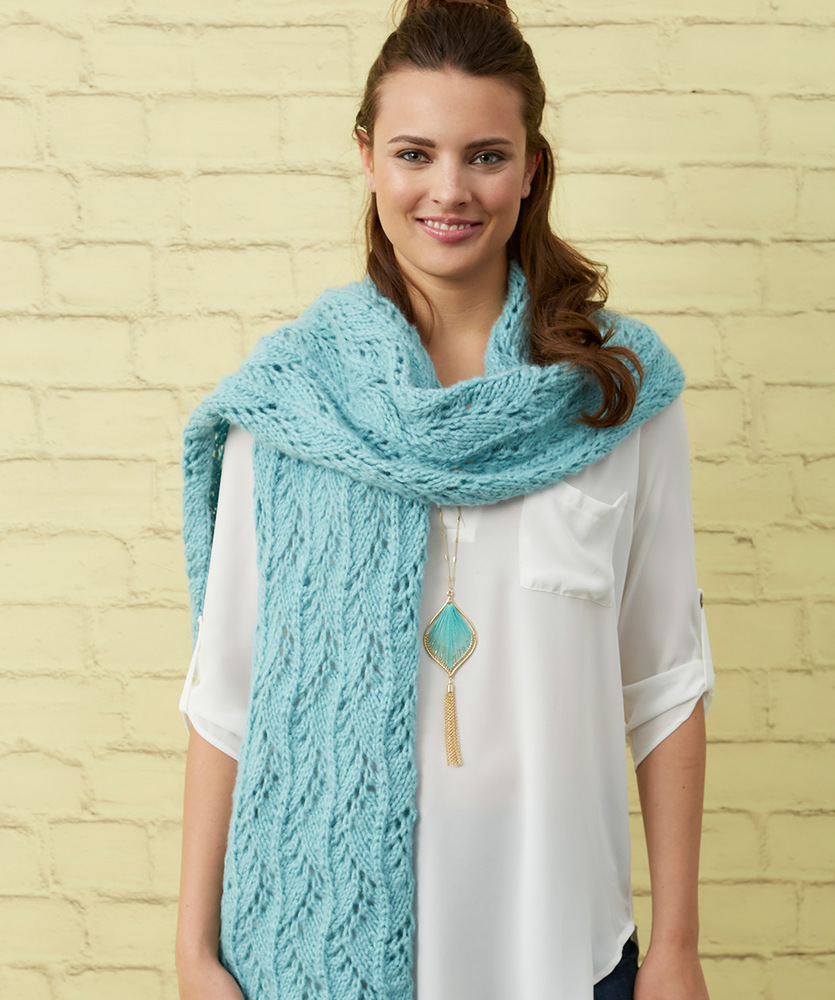 http://www.redheart.com/files/patterns/pdf/LW5653-Stunning-Lace-Scarf-Free-Knitting-Pattern.pdf