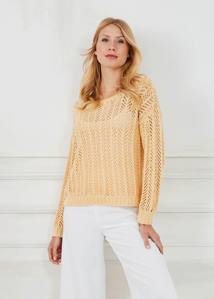 Free free ladies lace sweater knitting pattern Patterns ...
