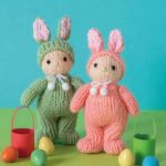 Free Knitting Pattern for an Easter Bunny Doll