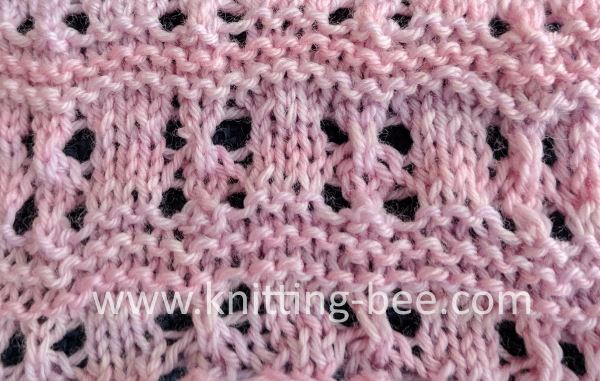 Free Knitting Stitch for a Lace and Garter Stripe