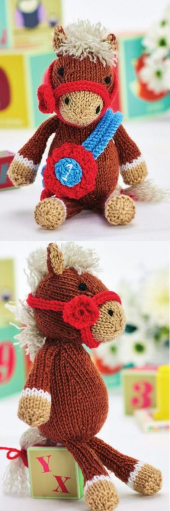Free Toy Knitting Pattern for Theodore the Horse