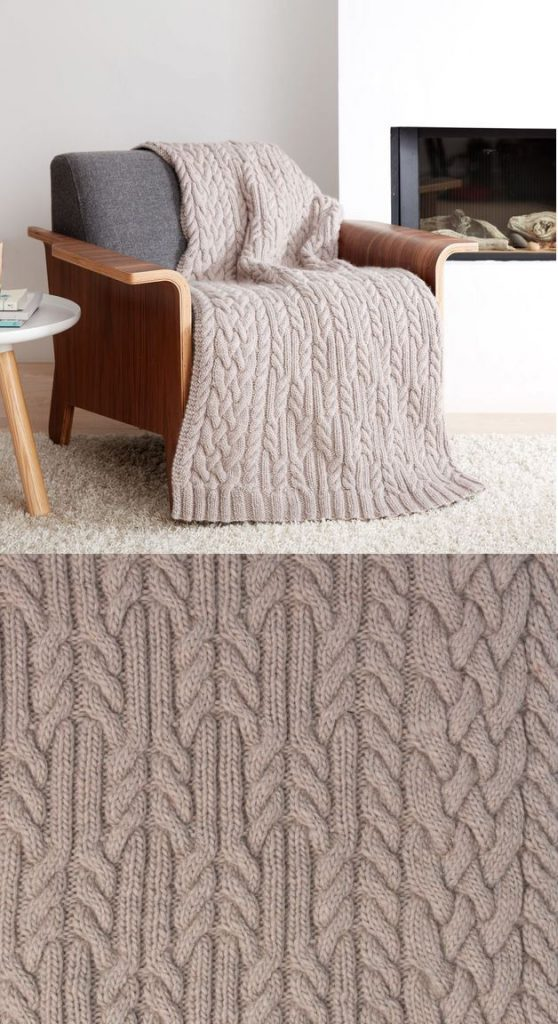 Free knitting pattern for a chunky knit blanket Patons