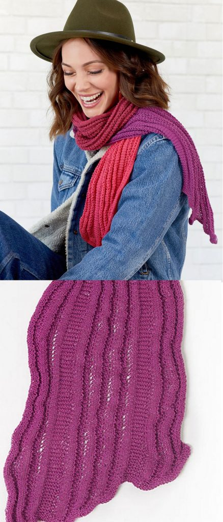Free Knitting Pattern for a Long and Skinny Scarf, very versatile and stylish addition to your wardrobe.