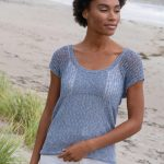 Free Knitting Pattern for a Pretty Ladies Top - Katherina