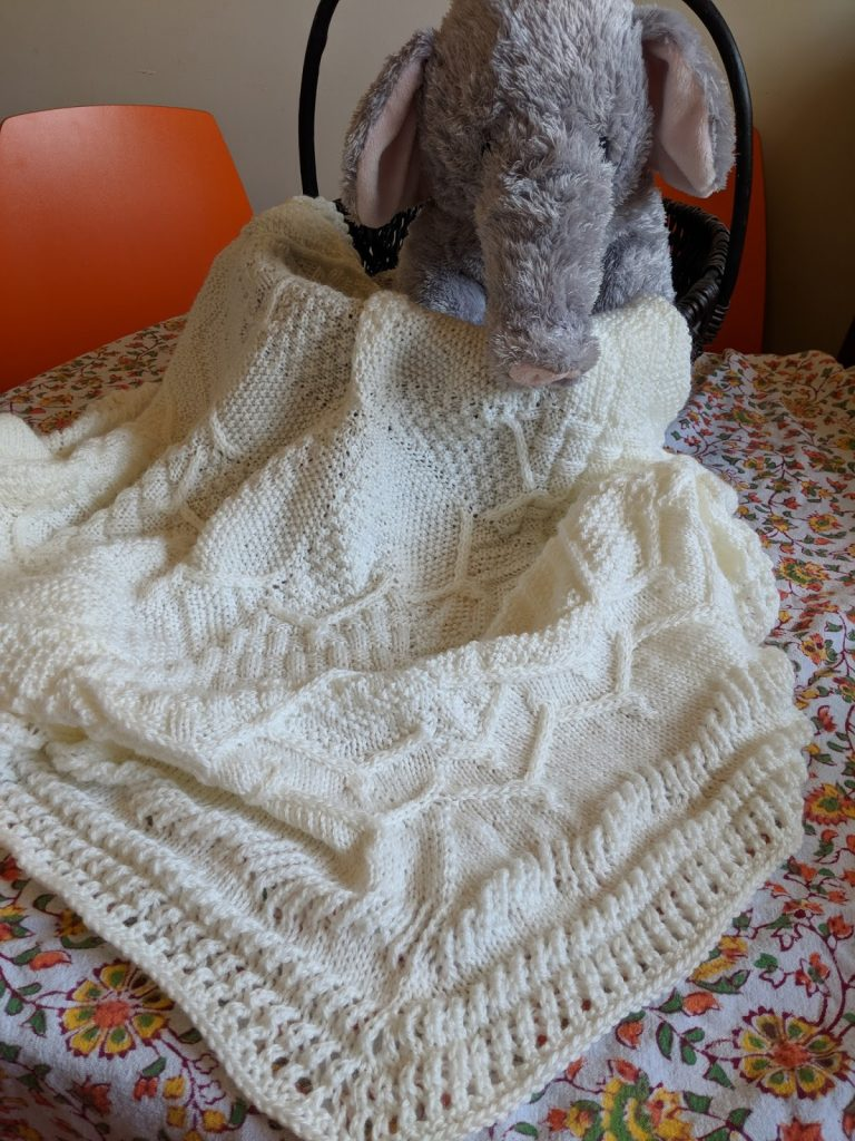 Free Knitting Pattern for a Sampler Flower Baby Blanket