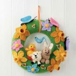 Free Knitting Pattern for an Easter Easy Spring Wreath