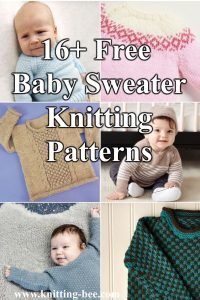 Free Baby Sweater Knitting Patterns