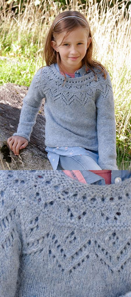 Free Children's Knitting Patterns to Download Lace Sweater