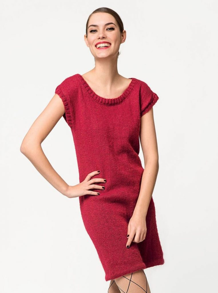 Free Knitting Pattern for a Beginner Dress for Women
