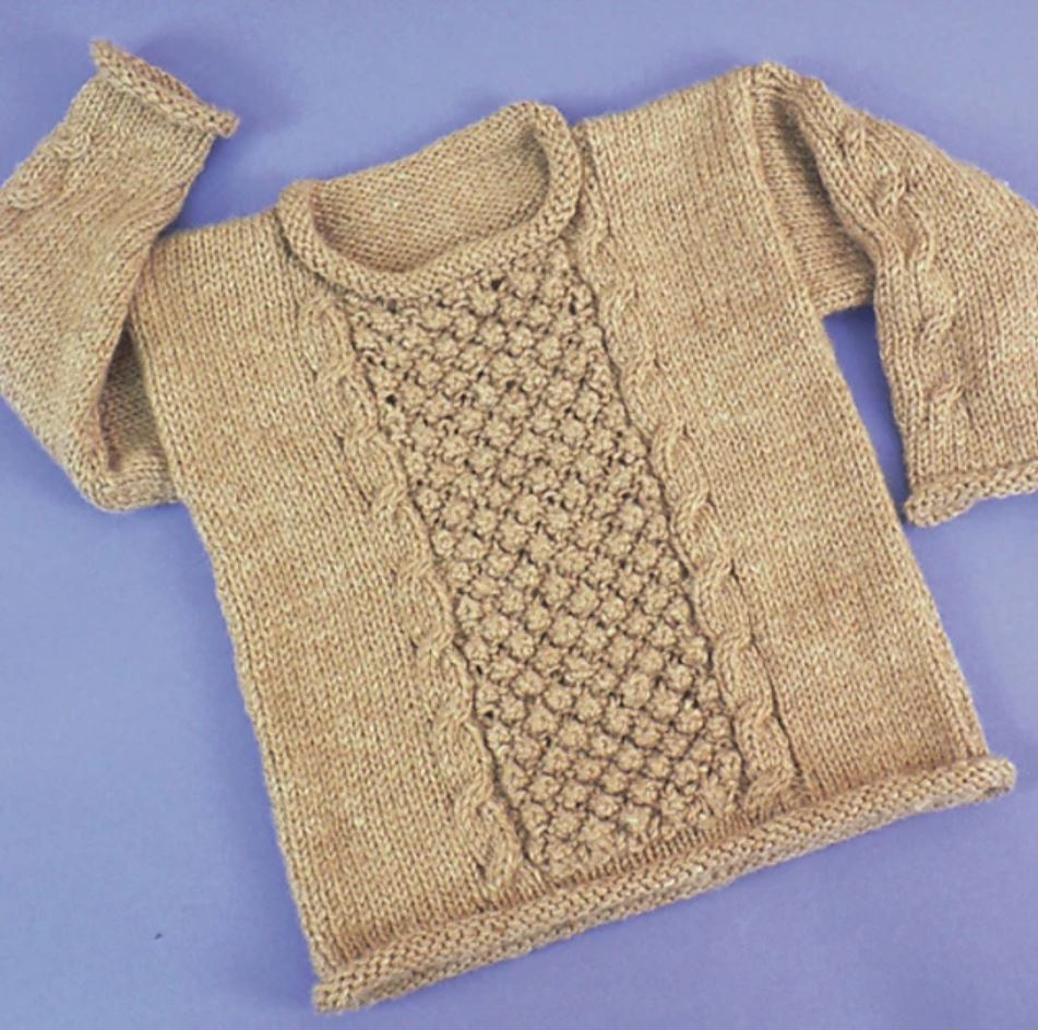 Free Knitting Pattern for a Child's Aran Pullover