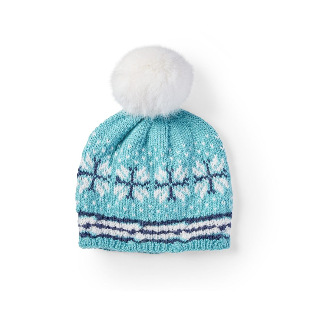 Free Knitting Pattern for a Fair Isle Hat On the Slopes Beanie